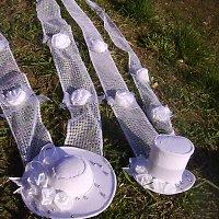 Svatební dekorace - klobouček a cylindr,