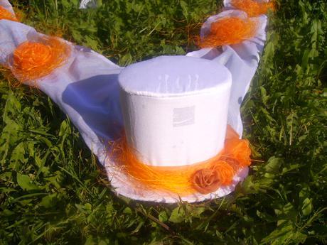 Svatební dekorace - klobouček a cylindr ,