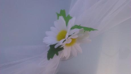 Svatební dekorace - kopretiny,