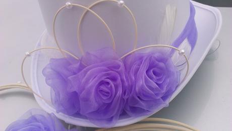 Svatební dekorace lila,