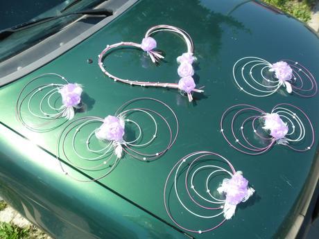 Svatební dekorace lila - jiná barva na přání,