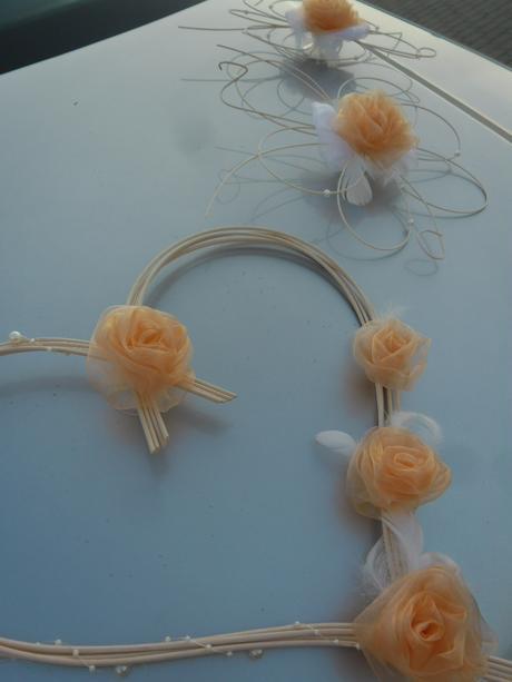 Svatební dekorace - meruňková,