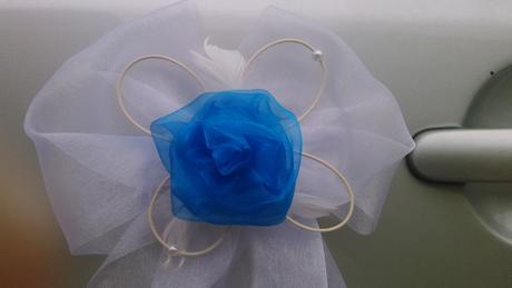 Svatební dekorace modrá,