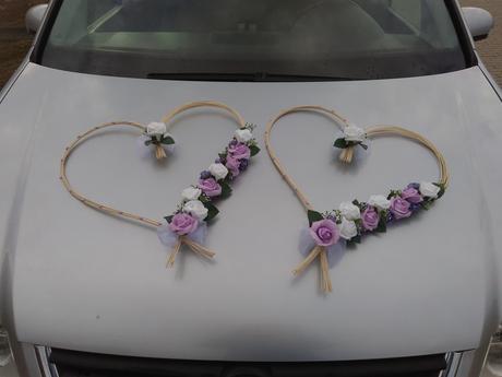 Svatební dekorace na auta,