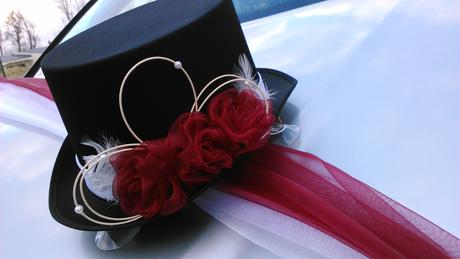 Svatební dekorace na auto - jiná barva na přání,