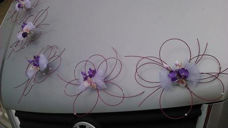 Svatební dekorace - orchideje,