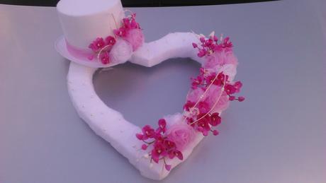 Svatební dekorace - orchideje a růže,