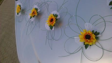 Svatební dekorace - slunečnice,