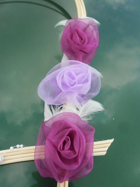 Svatební dekorace - světle a tmavě fialová,
