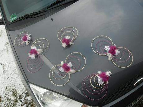 Svatební dekorace - tmavě fialová,