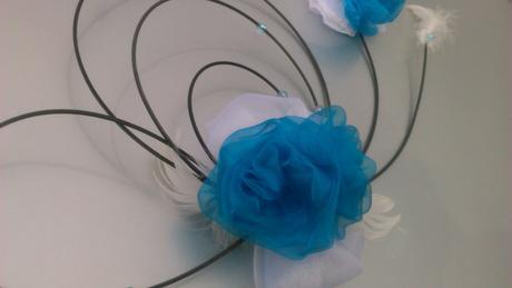 Svatební dekorace tyrkys,