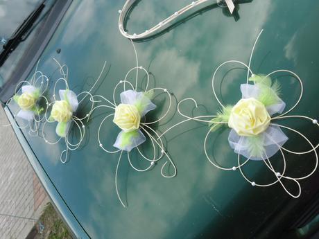 Svatební dekorace - žlutozelená,