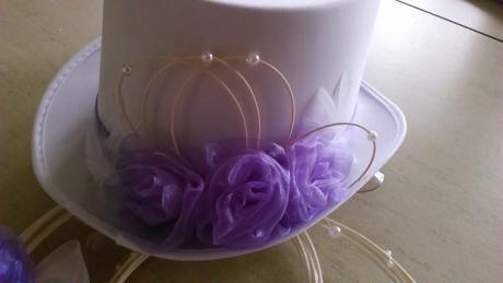 Svatební sada pro nevěstu i ženicha lila,