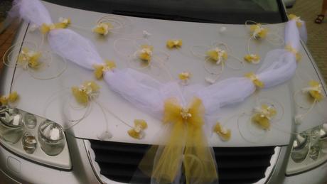 Svatební šerpa na auto ,