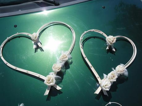 Svatební srdce - barva na přání,