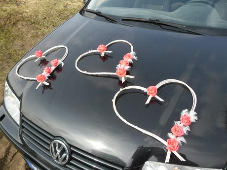 Svatební srdce - jiná barva na přání,