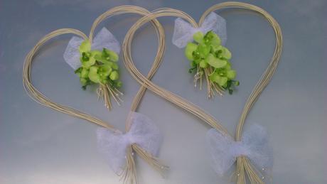 Svatební srdce orchideje,