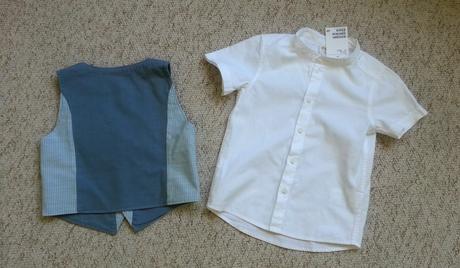 H&M vesta a košile na 2-3 roky, 92