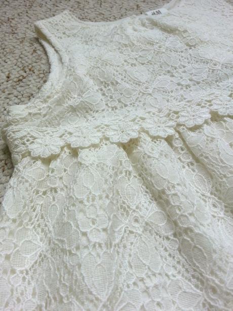 Krajkové šaty s bavlnou pro družičku na 86-92 cm, 92