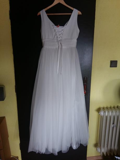 Svadobne šaty s kamienkami plus bolerko, 40