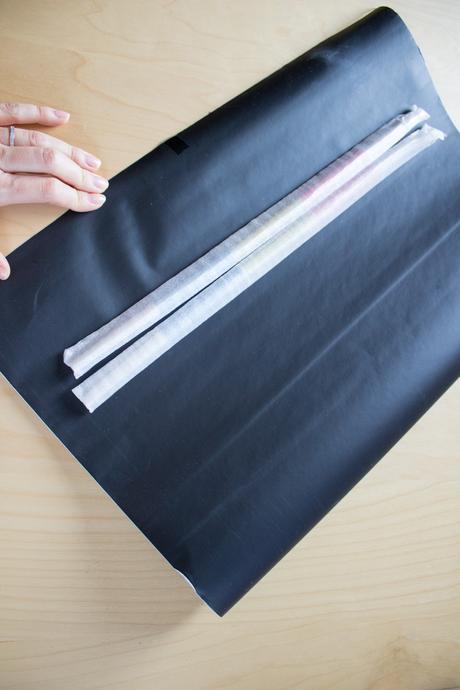 Černá samolepící tabule,