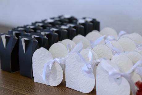 Svatební dekorace, bordová,