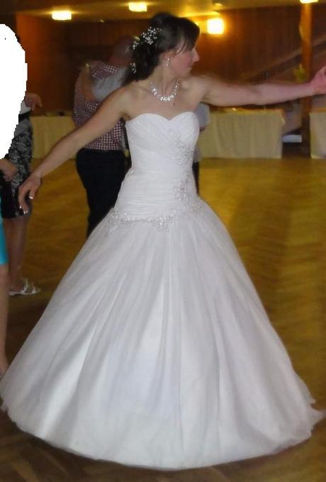 Sněhově bílé svatební šaty, vel. 38-42, 38