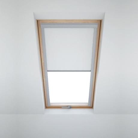 Zatemňovací roleta na střešní okna - bílá 78x118,
