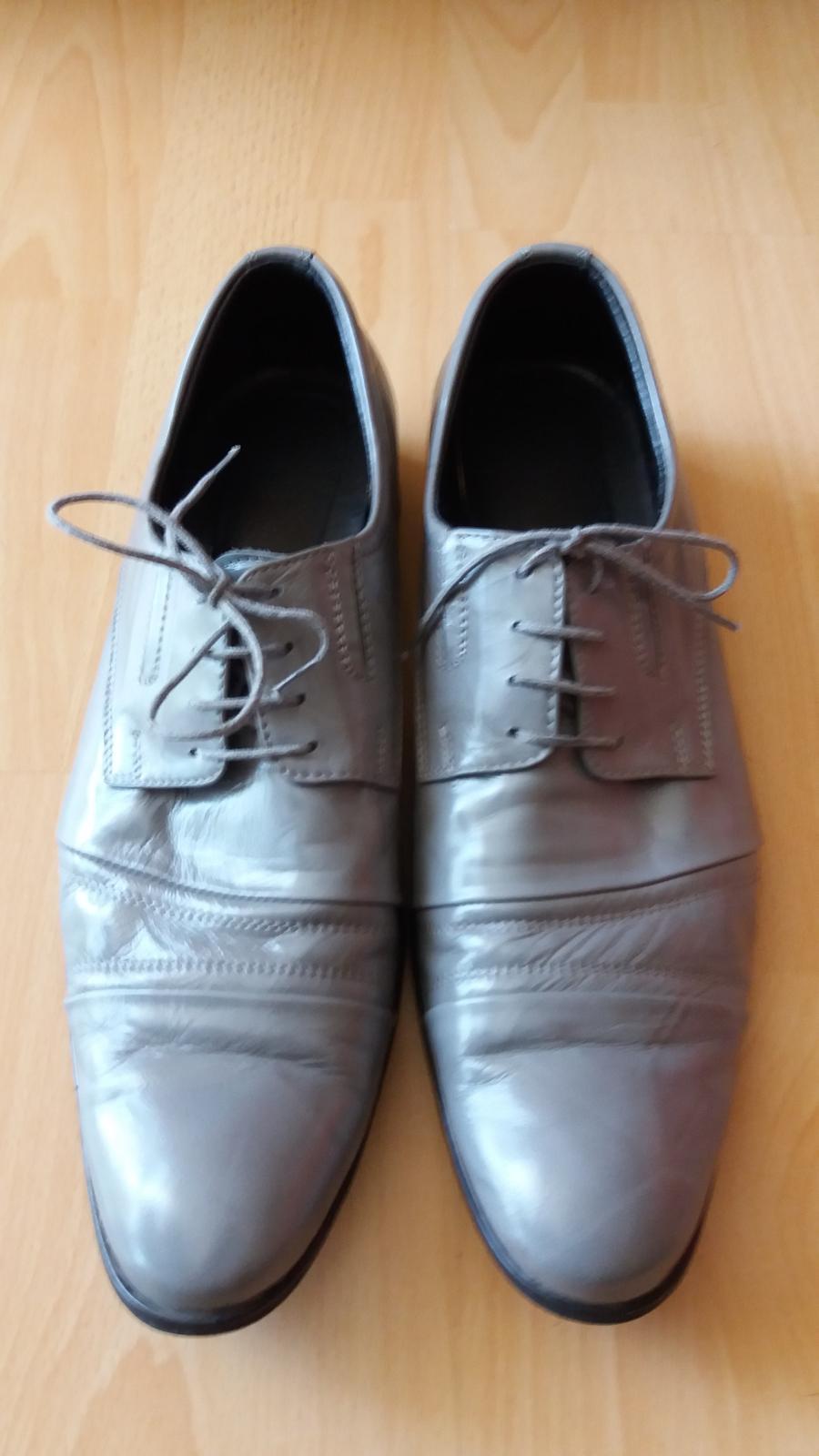 Peccini šedé kožené boty vel.43 42370492a1