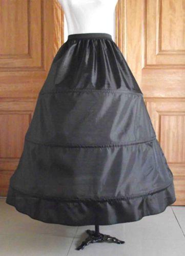 Čierna 3 kruhová spodnička,