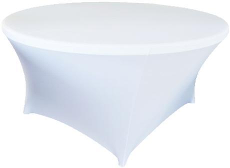 Spandexový obrus na okrúhlý stôl,