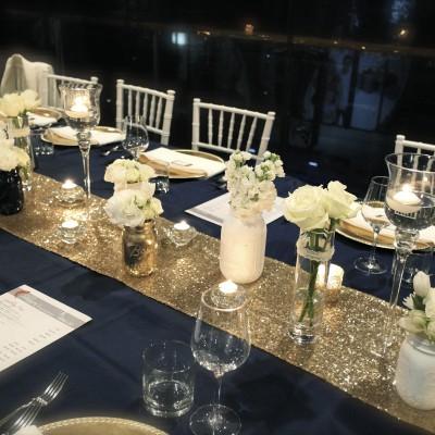 Table Runner Rentals Near Me Blue Table Navy Blue Wedding