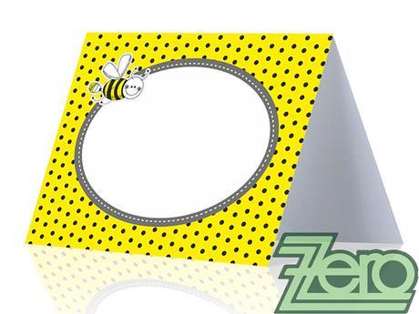 AKCE Vizitka/jmenovka (6 ks) - žlutá s tiskem,