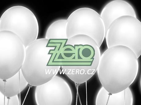 Balónky nafukovací LED (svíticí) Ø 30cm (5ks)-bílá,