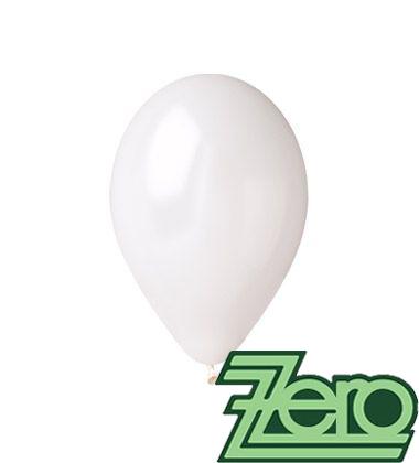 Balónky nafukovací Ø 26 cm metalově bílé - 100 ks,