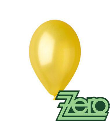 Balónky nafukovací Ø 26 cm metalově žluté 100 ks,