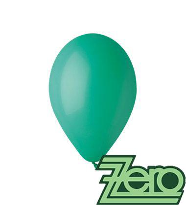 Balónky nafukovací Ø 26 cm tm. zelené 100 ks,