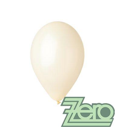 Balónky nafukovací Ø 26 metalové 100 ks - krémové,
