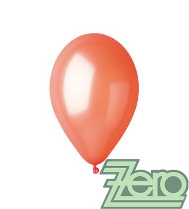 Balónky nafukovací Ø 26 metalové 100 ks - oranžové,