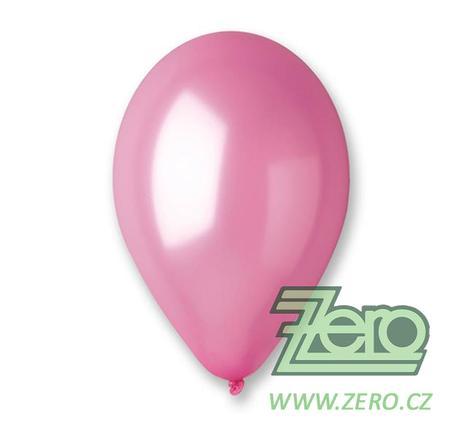 Balónky nafukovací Ø 26 metalové 100 ks - růžové,