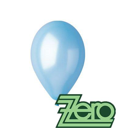 Balónky nafukovací Ø 26 metalově sv. modré 100 ks,