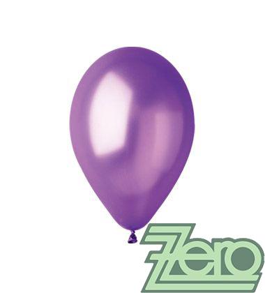Balónky nafukovací Ø 26 metalově tm.fialové 100 ks,