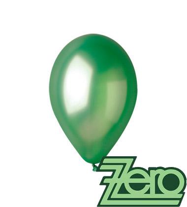 Balónky nafukovací Ø 26 metalově zelené 100 ks,