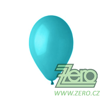 Balónky nafukovací Ø 26 pastelové 100 ks - tyrkys.,