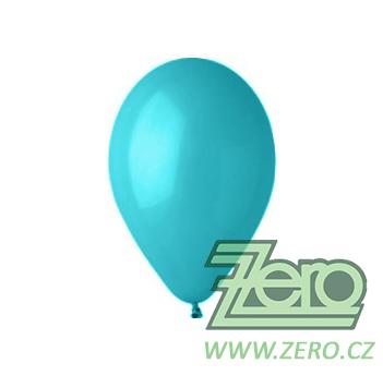Balónky nafukovací Ø 26 pastelové 20 ks - tyrkys.,