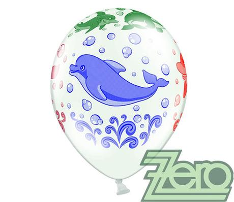 Balónky nafukovací Ø 36 cm (5 ks) - delfíni,