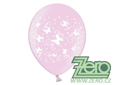 Balónky nafukovací Ø 36 cm (5 ks) - motýlci,