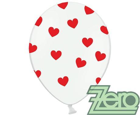Balónky nafukovací Ø 36 cm (5 ks) - srdíčka,