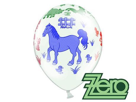 Balónky nafukovací Ø 36 cm (5 ks) - zvířátka,