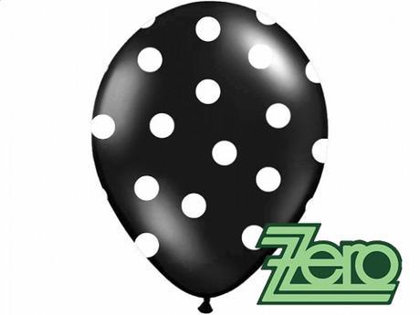 Balónky nafukovací Ø 36cm (5 ks) - černé s puntíky,